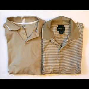 Men's golf polo's. Lot of two! Eddie Bauer Adidas